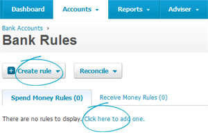 Xero bank rules